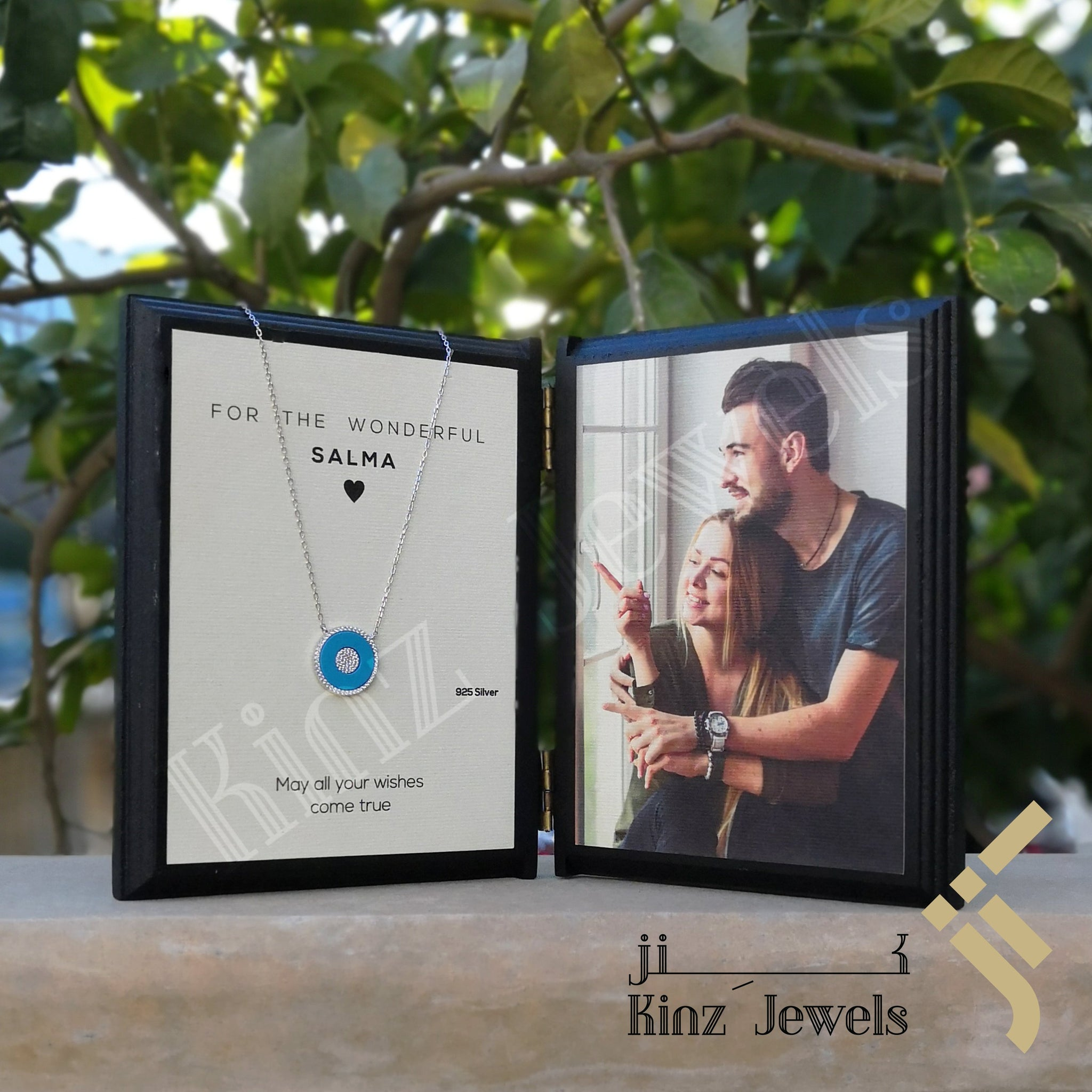 kinzjewels - Kinz Personalized Wooden Book Two Frames