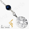 kinzjewels - Kinz Car Mirror Hanging or Keychain Silver Blue Goldstone - But Allah Is The Best Keeper
