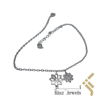 kinzjewels - Sterling Silver Snow Flake Anklet