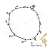 kinzjewels - Sterling Silver Small Cherries Anklet