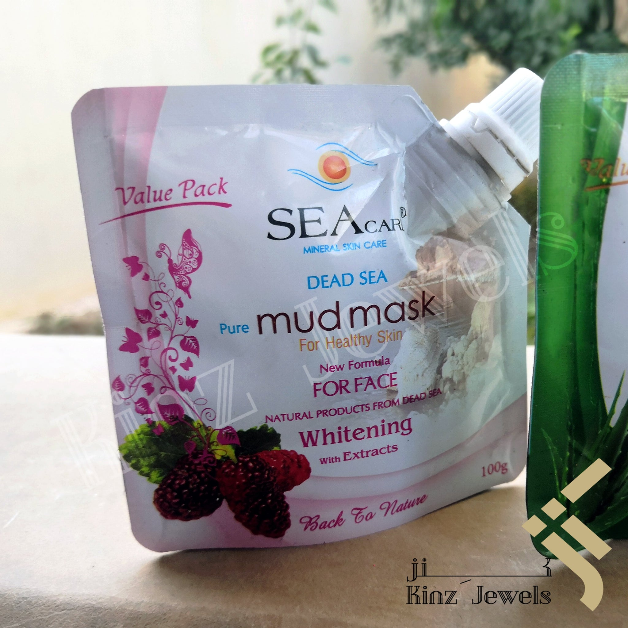 kinzjewels - Dead Sea Pure Mulberry Mud Mask For Healthy Skin Natural Whitening Face