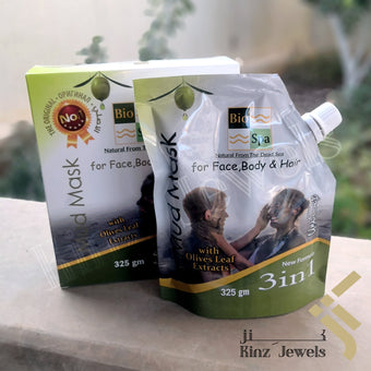 kinzjewels - Pure Body Dead Sea Mud Mask for Face, Body and hair With Naturals Olive Leaf Extract