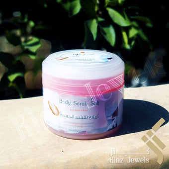 kinzjewels - Body Scrub Rose Salt Natural From The Dead Sea Minerals All Skin Types 250ml