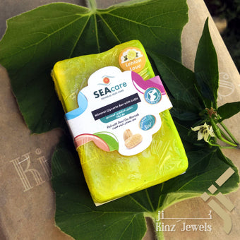 kinzjewels - Lemon Dead Sea Minerals Glycerin Cleansing Bar with Natural Luffa
