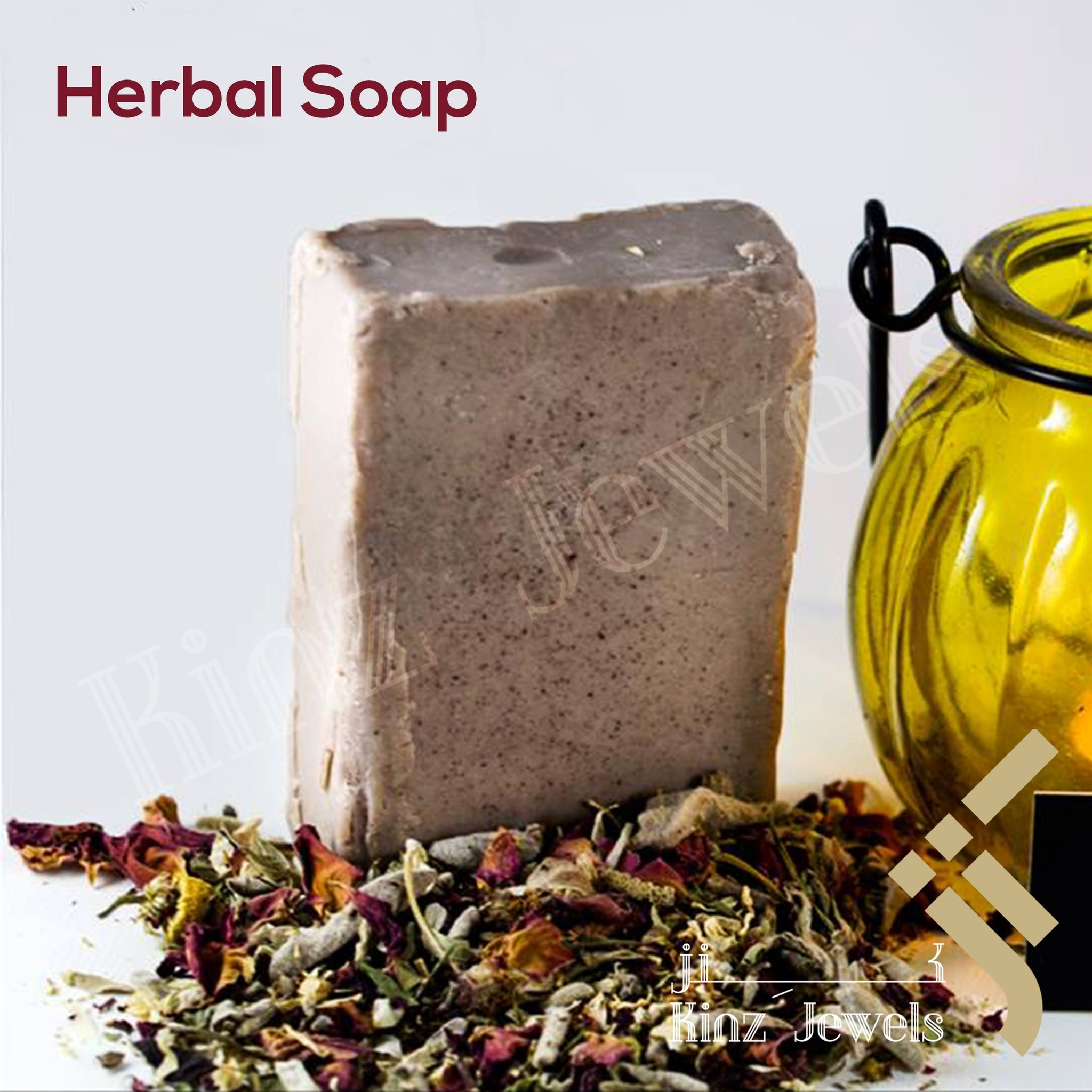 kinzjewels - Herbal Soap Bar With Dead Sea Minerals