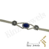 kinzjewels - Sterling Silver Vintage Lapis Between Flowers Bracelet