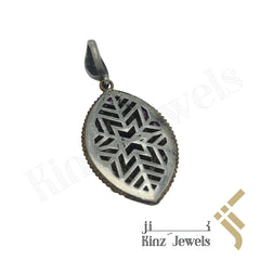 kinzjewels - Sterling Silver Hurrem Sultan Eye Shape Gemstones Pendant
