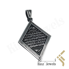 kinzjewels - Silver Diamond Shape Pendant - The Throne Verse