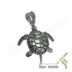 kinzjewels - Sterling Silver Handcrafted Turtle Movable Pendant