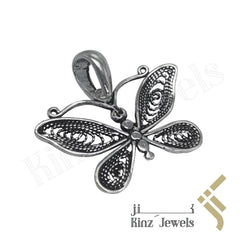 kinzjewels - Sterling Silver Handcrafted Butterfly Pendant