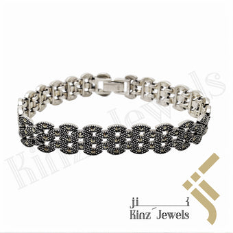 kinzjewels - Sterling Silver Antique Marcasite Bracelet