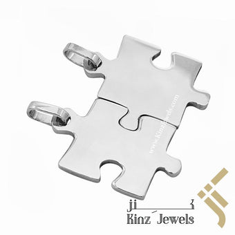 kinzjewels - Personalized Silver Puzzle Pendant