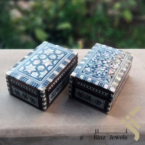 kinzjewels - Handcrafted Premium Arabisc Mosaics Mother Of Pearl Box