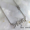 kinzjewels - Sterling Silver Written Infinity with Zircon Necklace