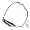 kinzjewels - Personalized Sterling Silver Palestine Map & Flag Bracelet Genuine Enamel