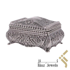 kinzjewels - Personalized Vintage Jewelry Box High Quality Alloy Antique Velvet Trinket