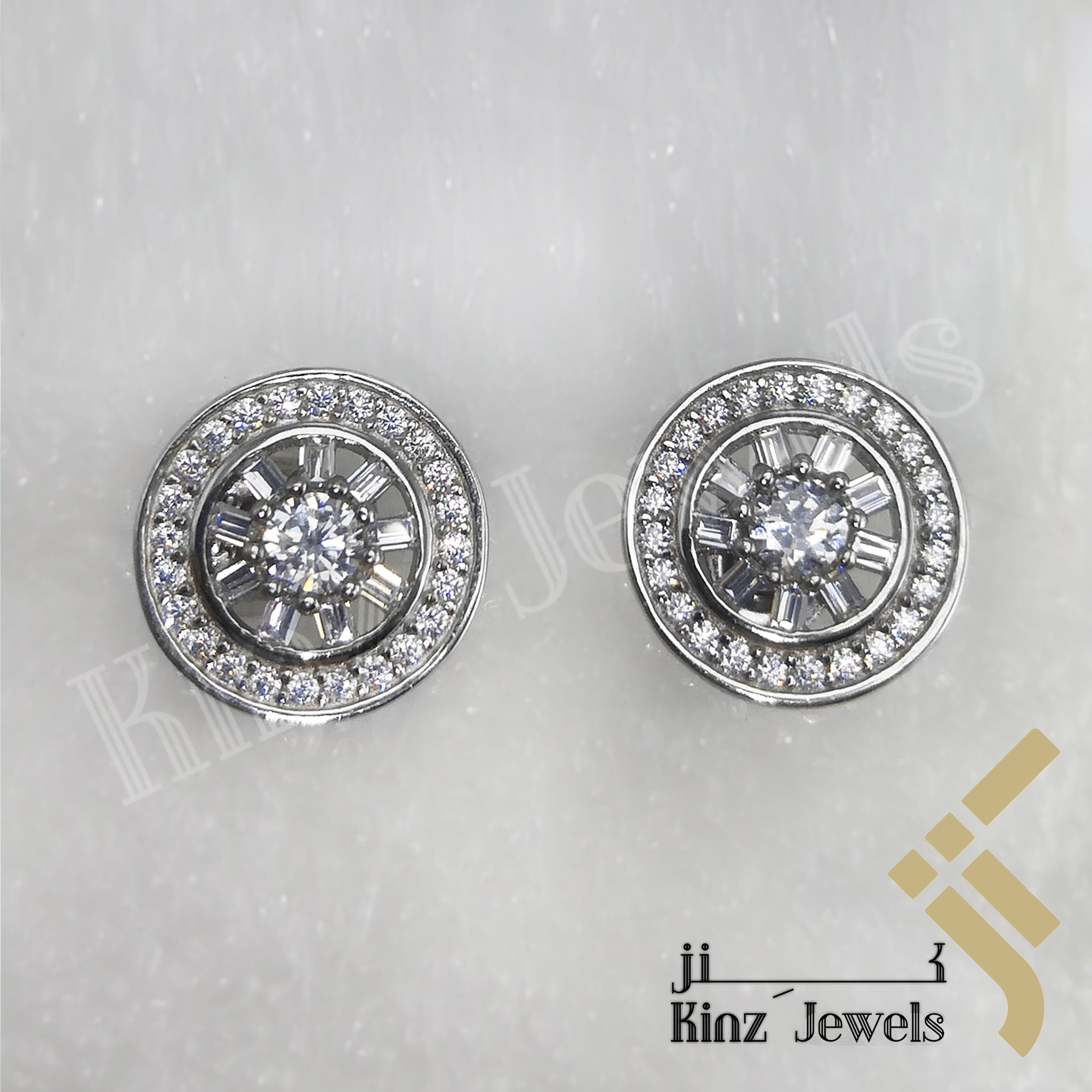 kinzjewels - Sterling Silver Rhodium Vermeil Vintage Wheel Earring