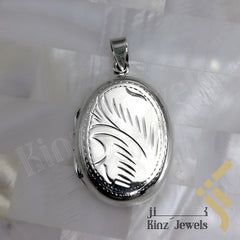 kinzjewels - Personalized Sterling Silver Vintage Photo Locket Oval