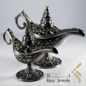 kinzjewels - Aladdin Lamp Pewter Zinc Alloy Incense - Personalized Hanging Card