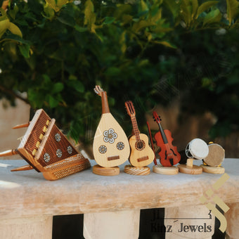 kinzjewels - Personalized SIX Wooden Musical Instruments Set With Wooden Box