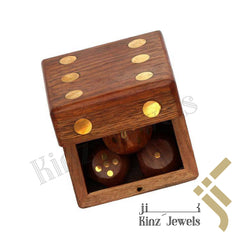 kinzjewels - Rose Wood with Brass Dice Box