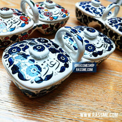 kinzjewels - Rassme - Hand Colored Palestinian Ceramic Thyme & Olive Oil
