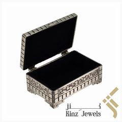 kinzjewels - Personalized Vintage Jewelry Box High Quality Alloy Antique Velvet Elegant