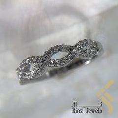 kinzjewels - Sterling Silver Rhodium Vermeil Double Infinity Ring