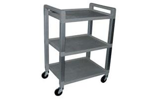 3 Shelf Vinyl Cart without Drawer