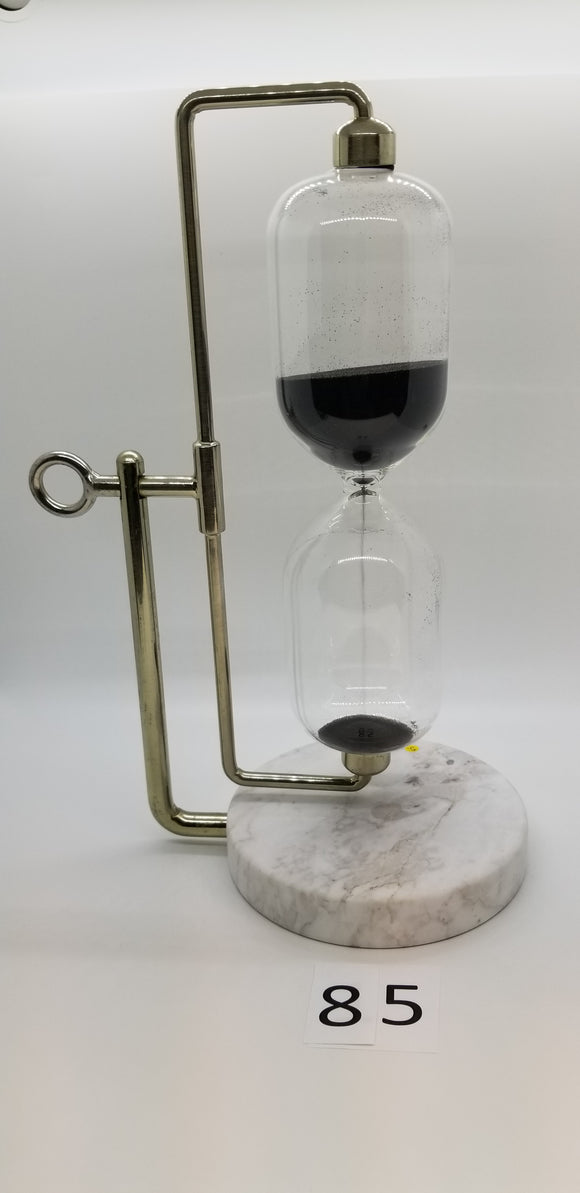 Hourglass w/Marble Base