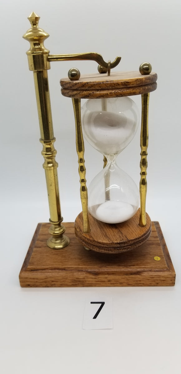 Wooden Hourglass on a Stand