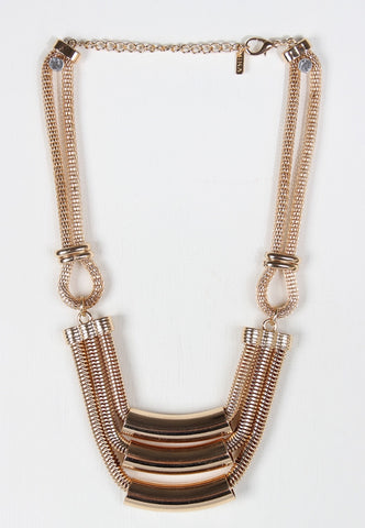 Chunky Tub Gold Necklace