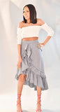 Ruffle High/Low Maxi Skirt (skirt only)