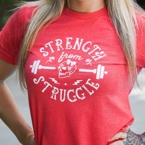 Strength From Struggle Red Tee