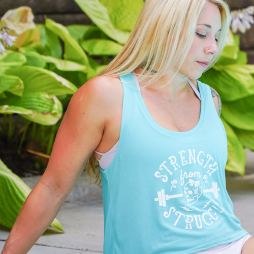 Strength From Struggle Teal Crop
