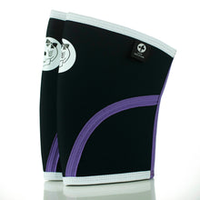 Black & Purple Neoprene Knee Sleeves