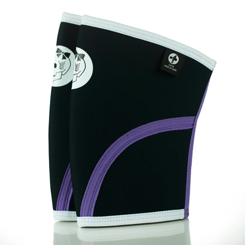 Black & Purple Neoprene Knee Sleeves (Small Only Remain)
