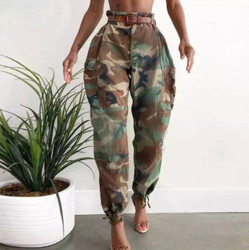 High Waisted Camo Pants