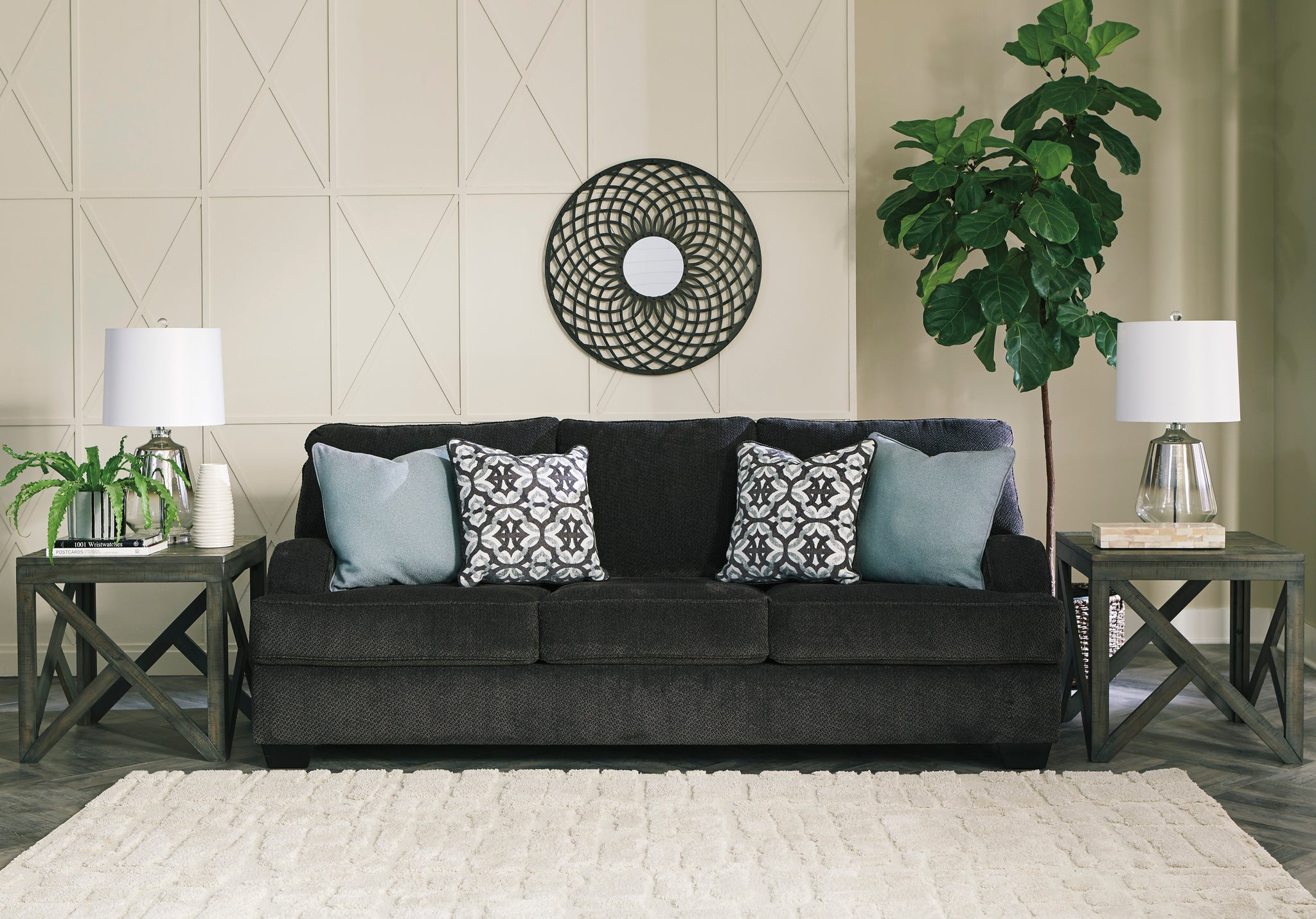 Charenton Charcoal Sofa 1410138 Signature Design By Ashley