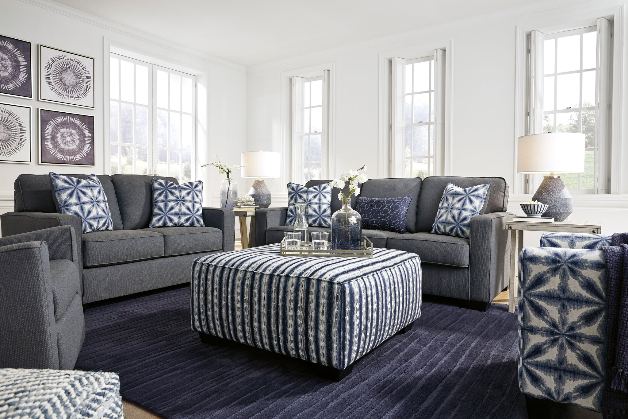 Picture of: Kiessel Nuvella Sofa And Loveseat By Ashley Furniture La Sierra Furniture