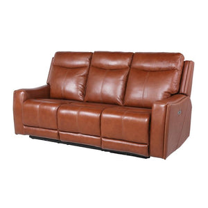 Natalia Caramel Leather Power Recliner Sofa