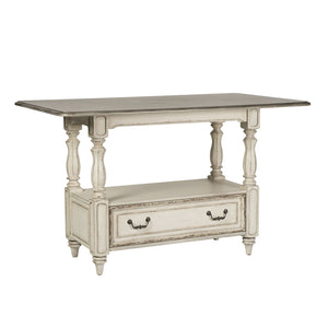 Magnolia Manor Antique White Rectangular Counter Height Dining Room Set LIB-244-GT3660