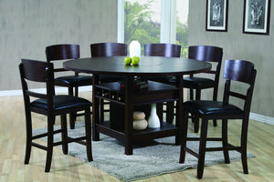 Conner Espresso 5PC Counter Heights Dining Set