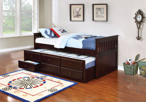 DARK BROWN EXPRESSO BED