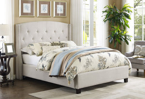 Eva Ivory Upholstered Bed