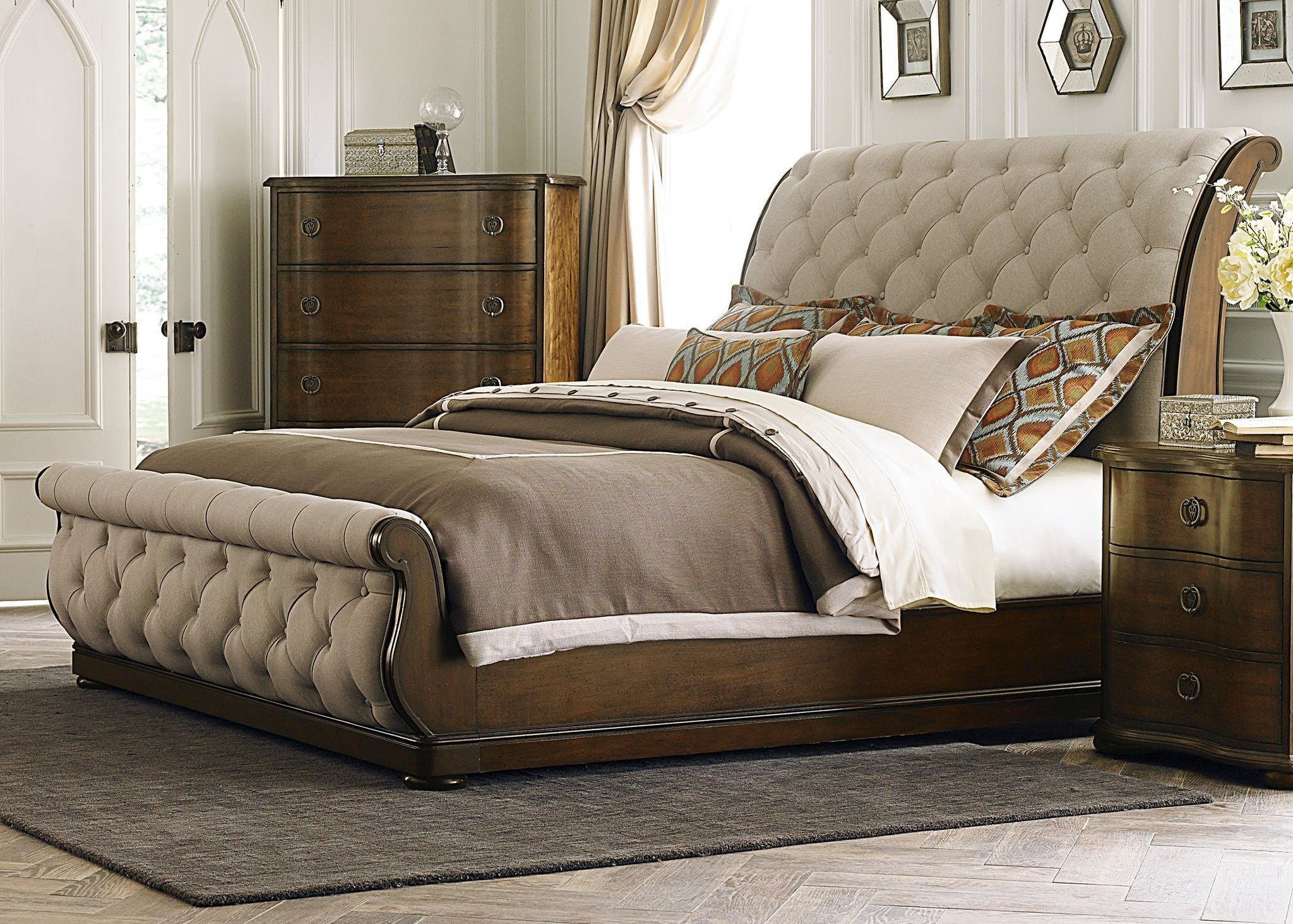 Awesome Sleigh Bedroom Sets Set