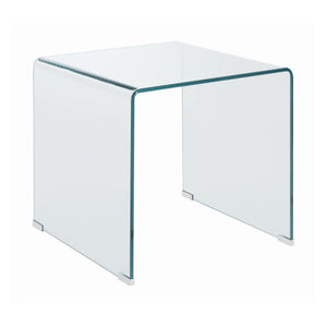 Square End Table Clear glass