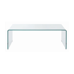 Rectangular Coffee Table Clear glass