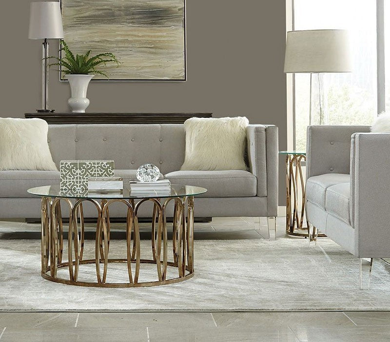 Chocolate Chrome Coffee Table By Scott Living