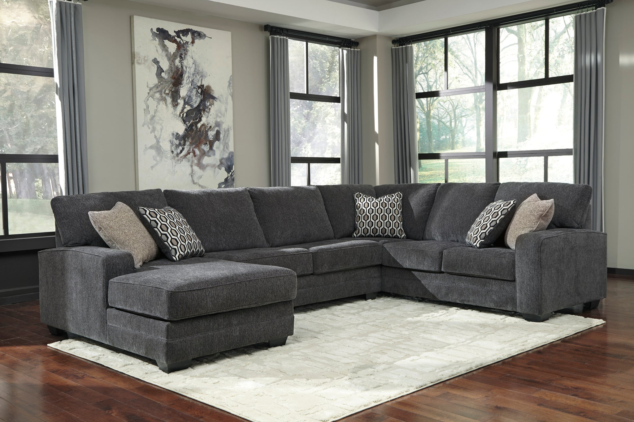 Tremendous Tracling Slate Laf Sectional Pdpeps Interior Chair Design Pdpepsorg